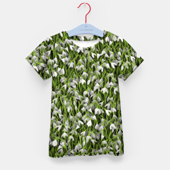 Thumbnail image of Snowdrops Kid's t-shirt, Live Heroes