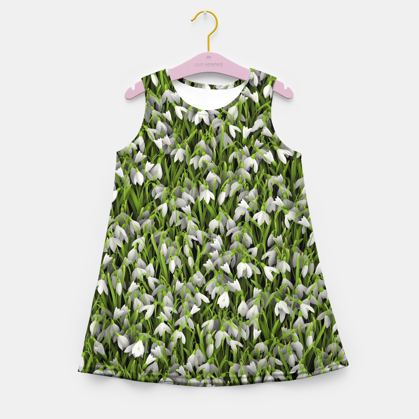 Image of Snowdrops Girl's summer dress - Live Heroes