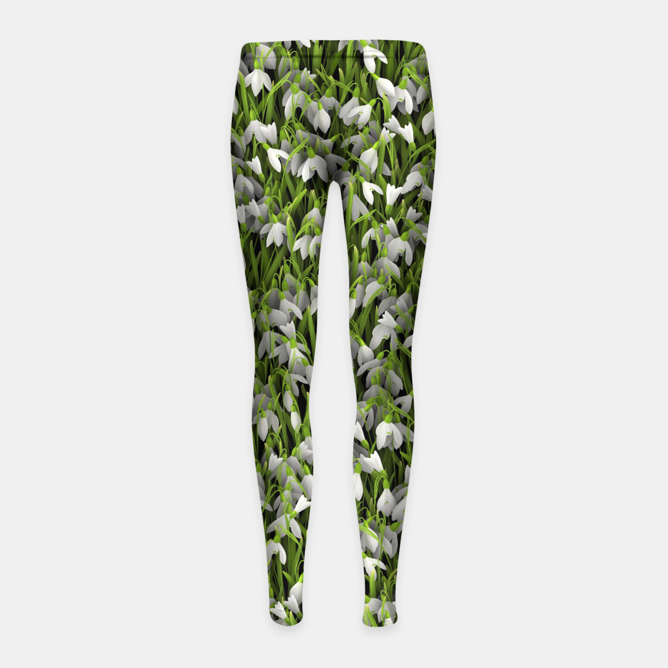 Image of Snowdrops Girl's leggings - Live Heroes
