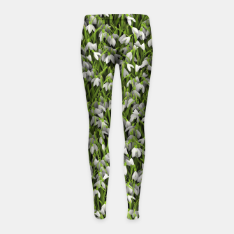 Thumbnail image of Snowdrops Girl's leggings, Live Heroes