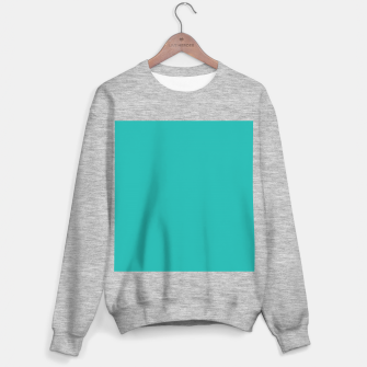 Thumbnail image of color light sea green Sweater regular, Live Heroes