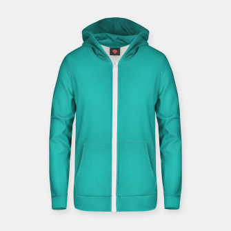 Thumbnail image of color light sea green Zip up hoodie, Live Heroes