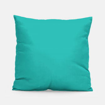 Thumbnail image of color light sea green Pillow, Live Heroes