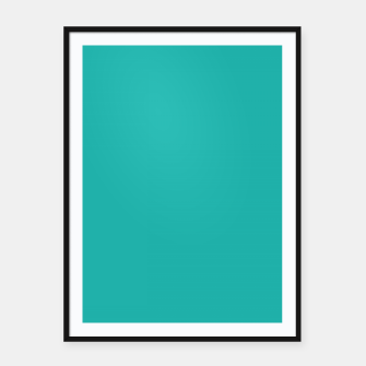 Imagen en miniatura de color light sea green Framed poster, Live Heroes