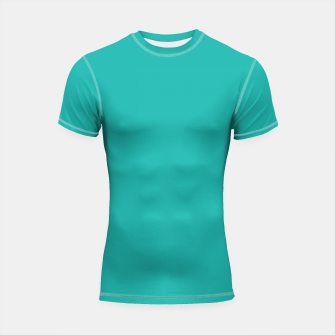 Imagen en miniatura de color light sea green Shortsleeve rashguard, Live Heroes