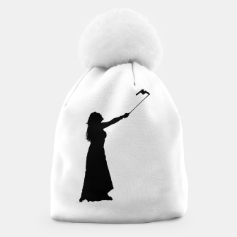 Miniatur Self Destructive Behavior Concept Graphic Illustration Beanie, Live Heroes