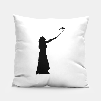 Miniatur Self Destructive Behavior Concept Graphic Illustration Pillow, Live Heroes