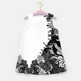 Miniatur Floral Girl's summer dress, Live Heroes