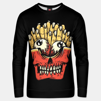 Miniatur Zombie French Fries Unisex sweater, Live Heroes