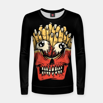 Thumbnail image of Zombie French Fries Women sweater, Live Heroes