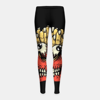 Miniatur Zombie French Fries Girl's leggings, Live Heroes