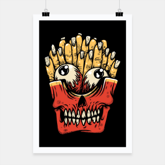 Miniatur Zombie French Fries Poster, Live Heroes