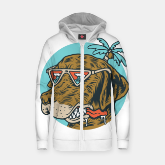 Thumbnail image of Chill Dog Zip up hoodie, Live Heroes