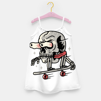 Thumbnail image of Skull Skateboarding Girl's dress, Live Heroes