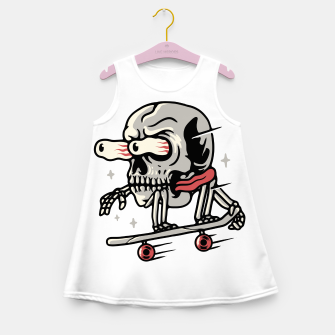 Thumbnail image of Skull Skateboarding Girl's summer dress, Live Heroes