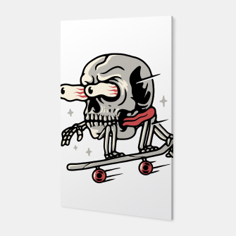 Thumbnail image of Skull Skateboarding Canvas, Live Heroes
