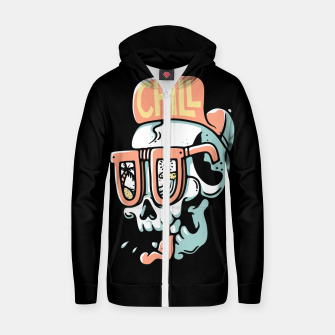 Thumbnail image of Chill Skull Zip up hoodie, Live Heroes
