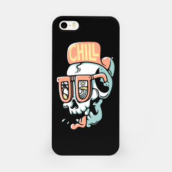 Miniatur Chill Skull iPhone Case, Live Heroes