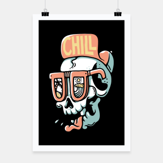 Thumbnail image of Chill Skull Poster, Live Heroes