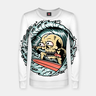Thumbnail image of Skull Surfing Women sweater, Live Heroes