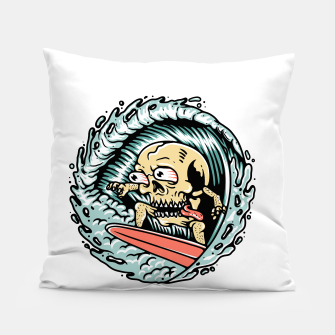 Thumbnail image of Skull Surfing Pillow, Live Heroes