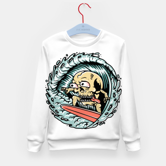 Thumbnail image of Skull Surfing Kid's sweater, Live Heroes