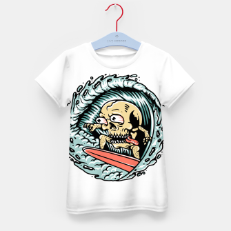 Thumbnail image of Skull Surfing Kid's t-shirt, Live Heroes
