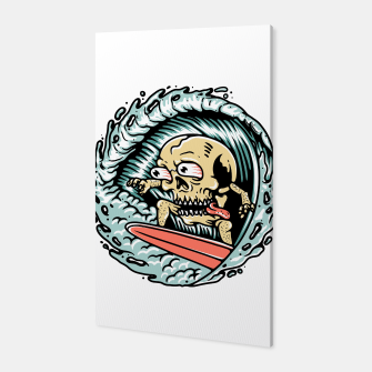 Thumbnail image of Skull Surfing Canvas, Live Heroes