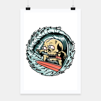 Thumbnail image of Skull Surfing Poster, Live Heroes