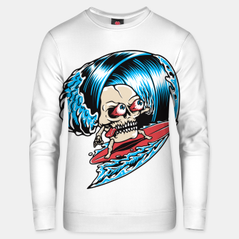 Thumbnail image of Skull Surfing Unisex sweater, Live Heroes