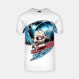 Thumbnail image of Skull Surfing T-shirt, Live Heroes