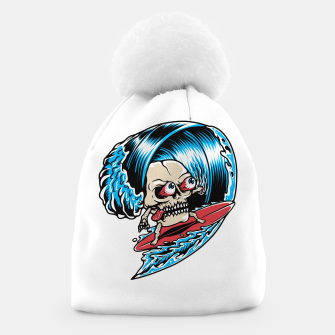 Thumbnail image of Skull Surfing Beanie, Live Heroes