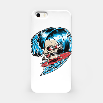 Thumbnail image of Skull Surfing iPhone Case, Live Heroes
