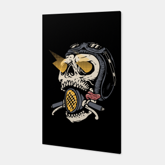 Thumbnail image of Skull Biker Canvas, Live Heroes