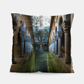 Thumbnail image of Guimarães Garden Glitch Pillow, Live Heroes