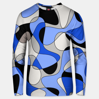 Miniatur Abstract pattern - blue and white. Unisex sweater, Live Heroes