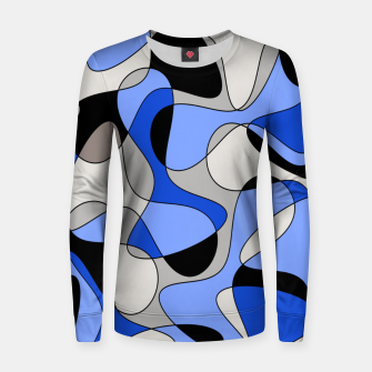 Miniatur Abstract pattern - blue and white. Women sweater, Live Heroes
