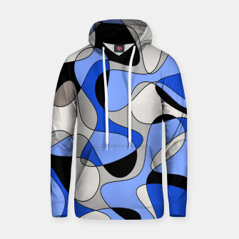 Thumbnail image of Abstract pattern - blue and white. Hoodie, Live Heroes