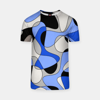 Miniatur Abstract pattern - blue and white. T-shirt, Live Heroes