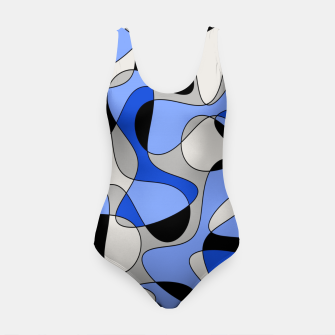 Miniatur Abstract pattern - blue and white. Swimsuit, Live Heroes