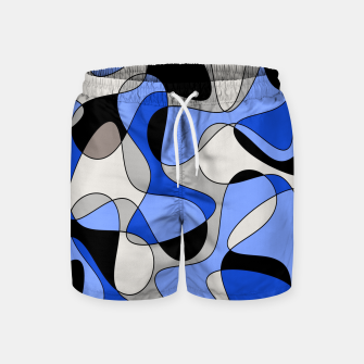 Miniatur Abstract pattern - blue and white. Swim Shorts, Live Heroes