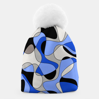 Miniatur Abstract pattern - blue and white. Beanie, Live Heroes