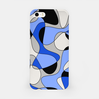 Miniatur Abstract pattern - blue and white. iPhone Case, Live Heroes