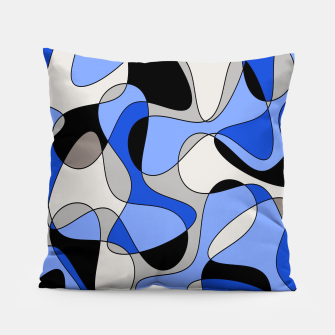 Miniatur Abstract pattern - blue and white. Pillow, Live Heroes