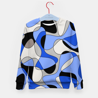 Miniatur Abstract pattern - blue and white. Kid's sweater, Live Heroes