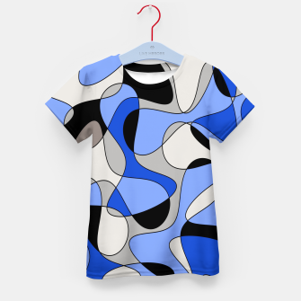 Miniatur Abstract pattern - blue and white. Kid's t-shirt, Live Heroes