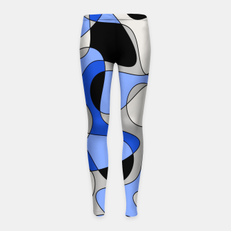 Miniatur Abstract pattern - blue and white. Girl's leggings, Live Heroes