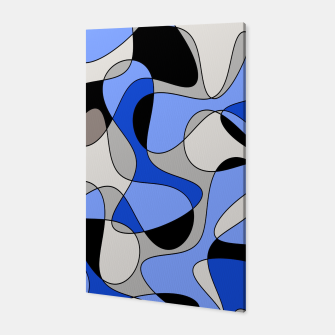 Imagen en miniatura de Abstract pattern - blue and white. Canvas, Live Heroes