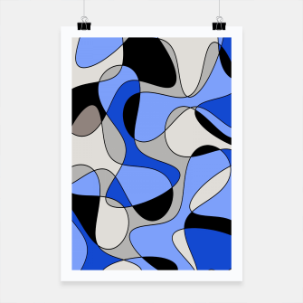 Miniatur Abstract pattern - blue and white. Poster, Live Heroes
