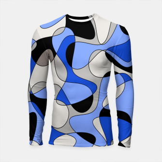 Miniatur Abstract pattern - blue and white. Longsleeve rashguard , Live Heroes